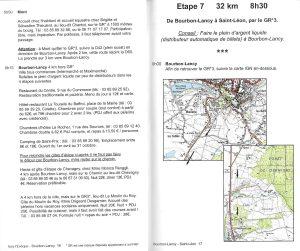 Sur le chemin de Saint-Jacques-de-Compostelle - Vézelay > Le Puy-en-Velay - binnenbladzijden