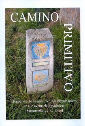 Camino Primitivo - Topografische kaarten met ingetekende routes en alle overnachtingsmogelijkheden