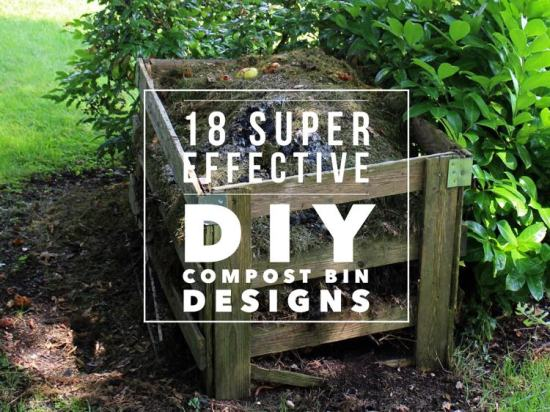 18 cool diy compost bin designs for Best ways to save money when building a house