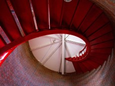 Lighthouse staircase spirals up
