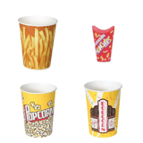 Dart Container Solo® Grease Resistant Paper Fry Cups, Munchie Cups and Popcorn Cups