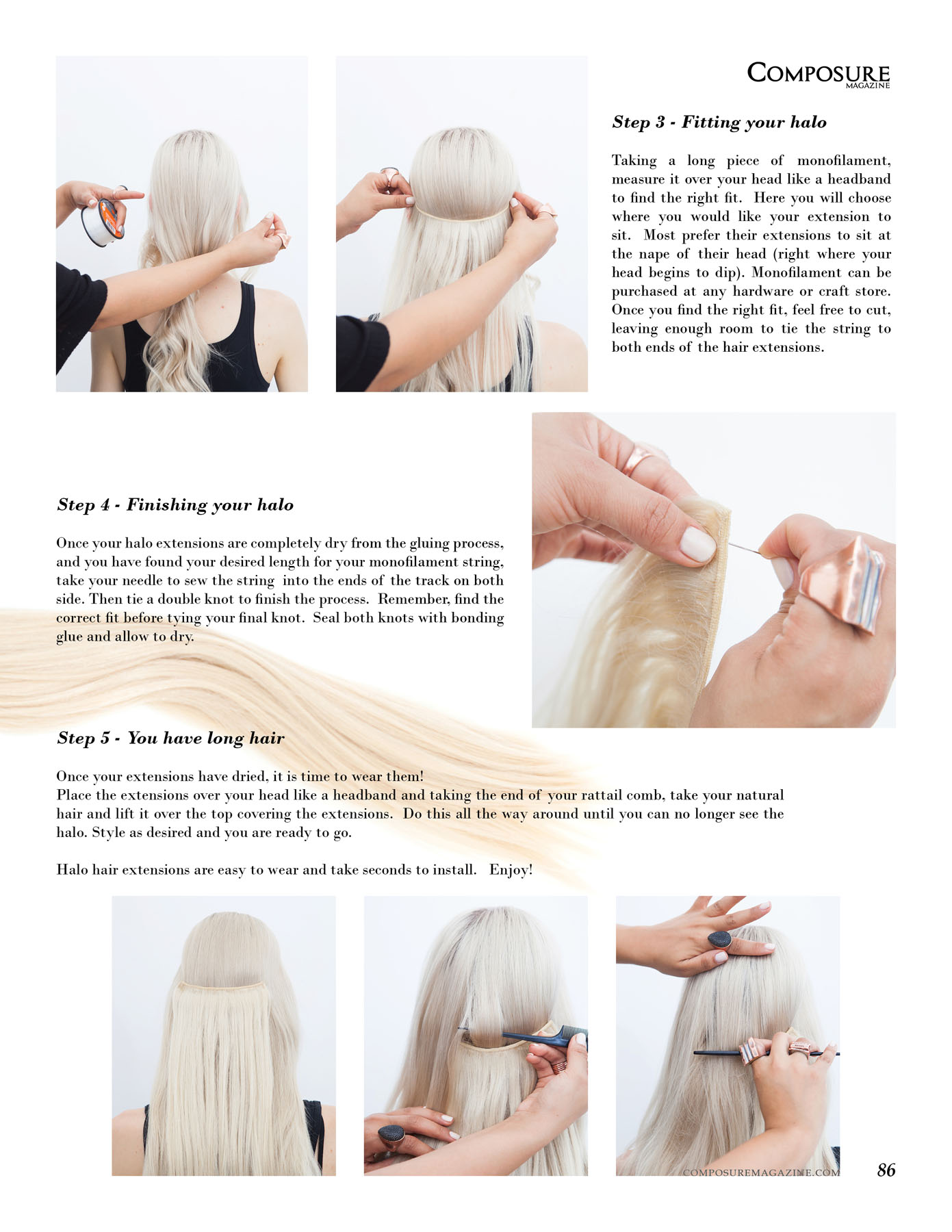 How To Guide For Halo Hair Extensions