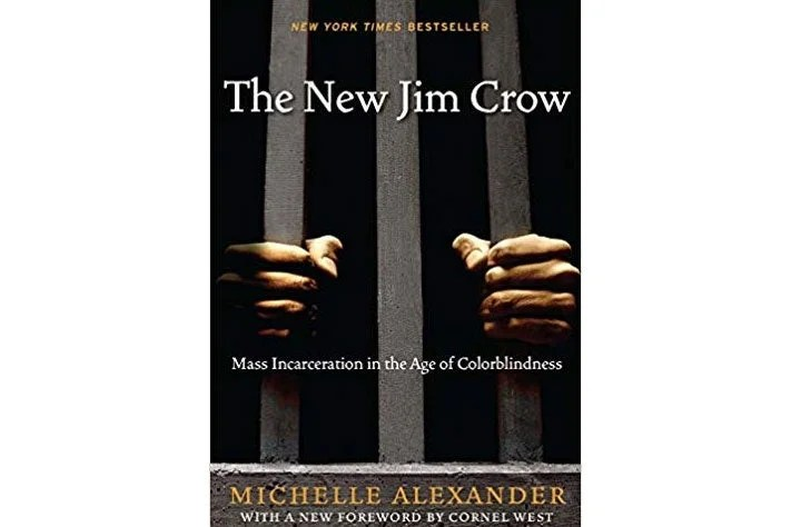 The New Jim Crow book cover.