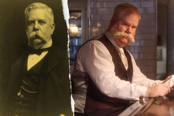 George Westinghouse and Jim Gaffigan, both with very large, bushy mustaches.