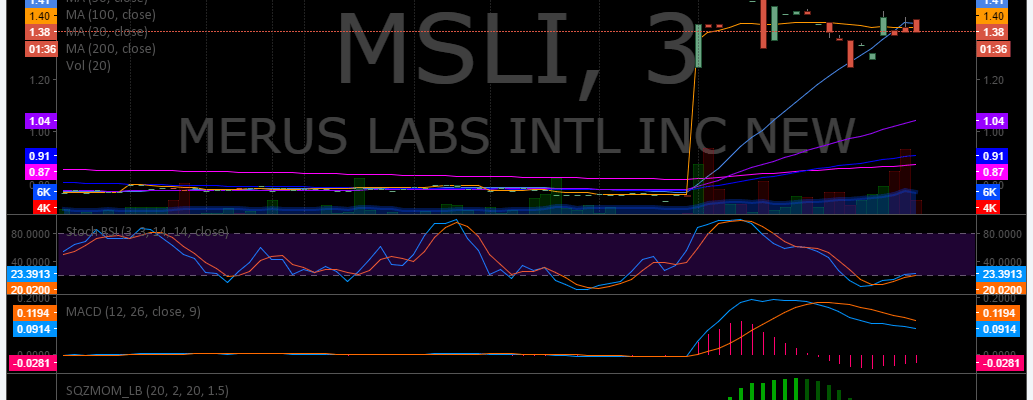 $MSLI, premarket, trading, plan, stocks