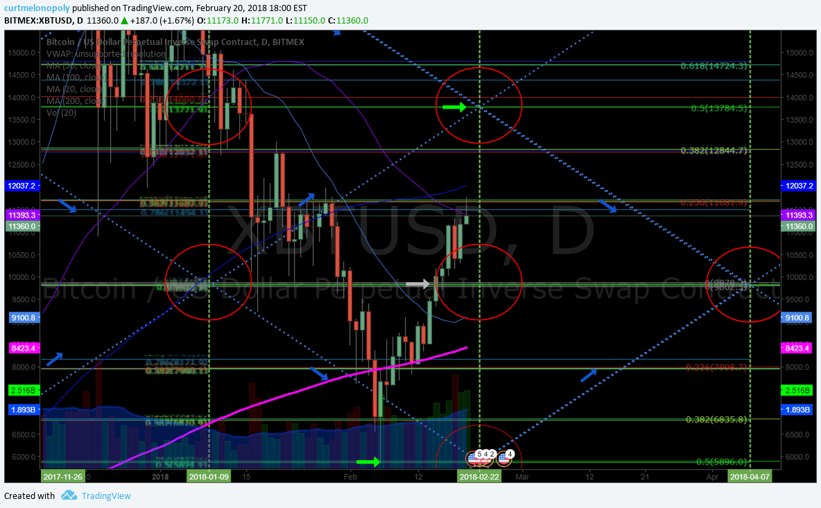 $BTC, Bitcoin, Daily, Chart, Time, Price, Cycle