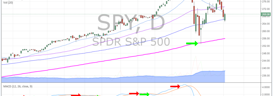 $SPY, Daily, Chart, MACD