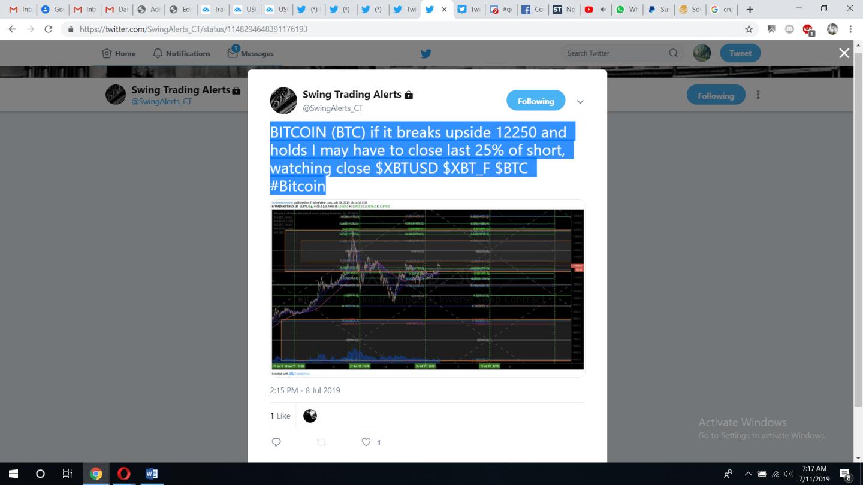 BTC, trade, alert