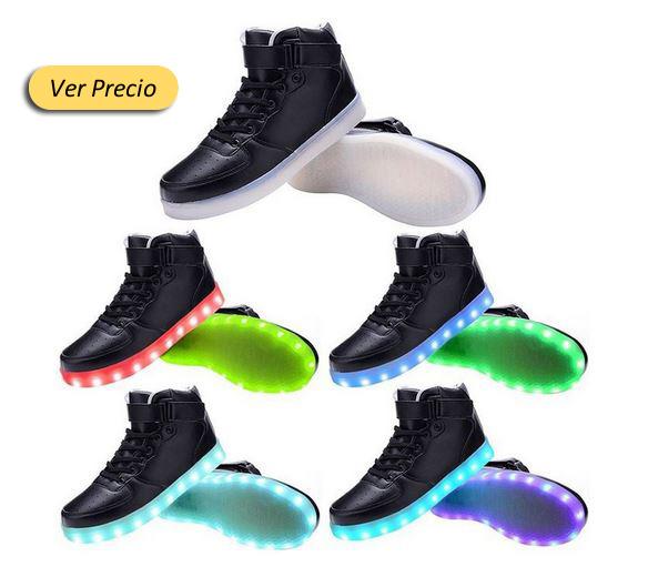 zapatos con luces led en amazon populares