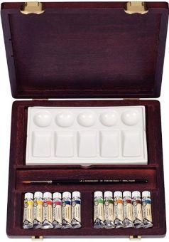 Acuarelas Profesionales - Rembrandt - Caja de madera con 12 tubos