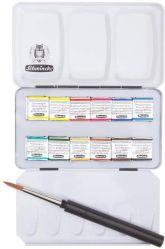 Acuarelas Profesionales - Schmincke Horadam - Caja metálica con 12 pastillas
