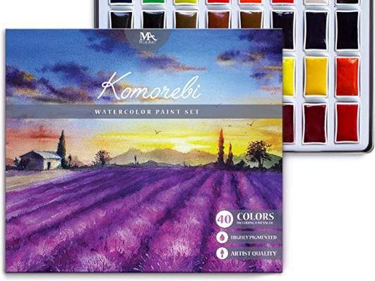 Acuarelas Japonesas Komorebi - pastillas y caja