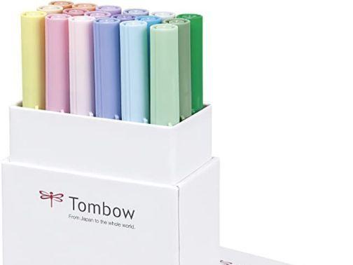Rotuladores Acuarelables Tombow - Caja vertical abierta con rotuladores - Home