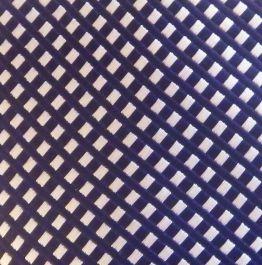Corbata azul eléctrico en cuadros