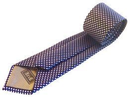 Corbata azul electrico en cuadrados