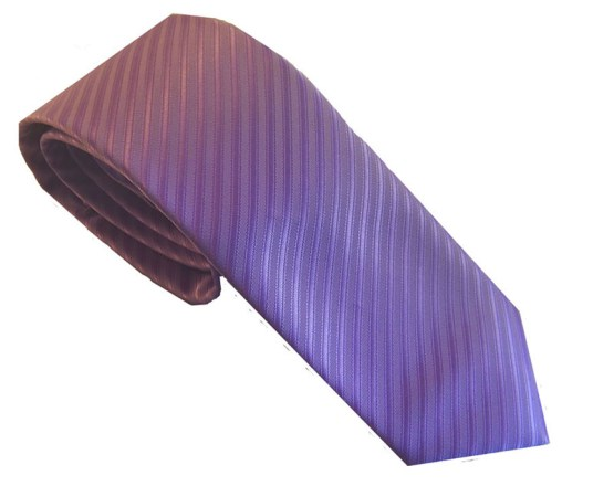 Corbata rayas lila