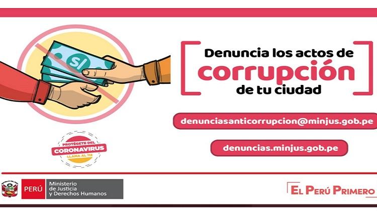 Minjusdh exhorta a la ciudadanía a denunciar actos de corrupción de funcionarios públicos