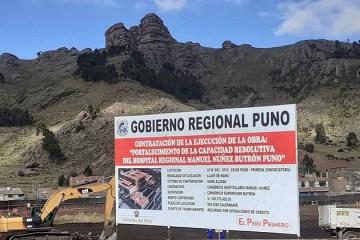 GORE Puno debe pronunciarse sobre adicional para hospital Manuel Núñez Butrón