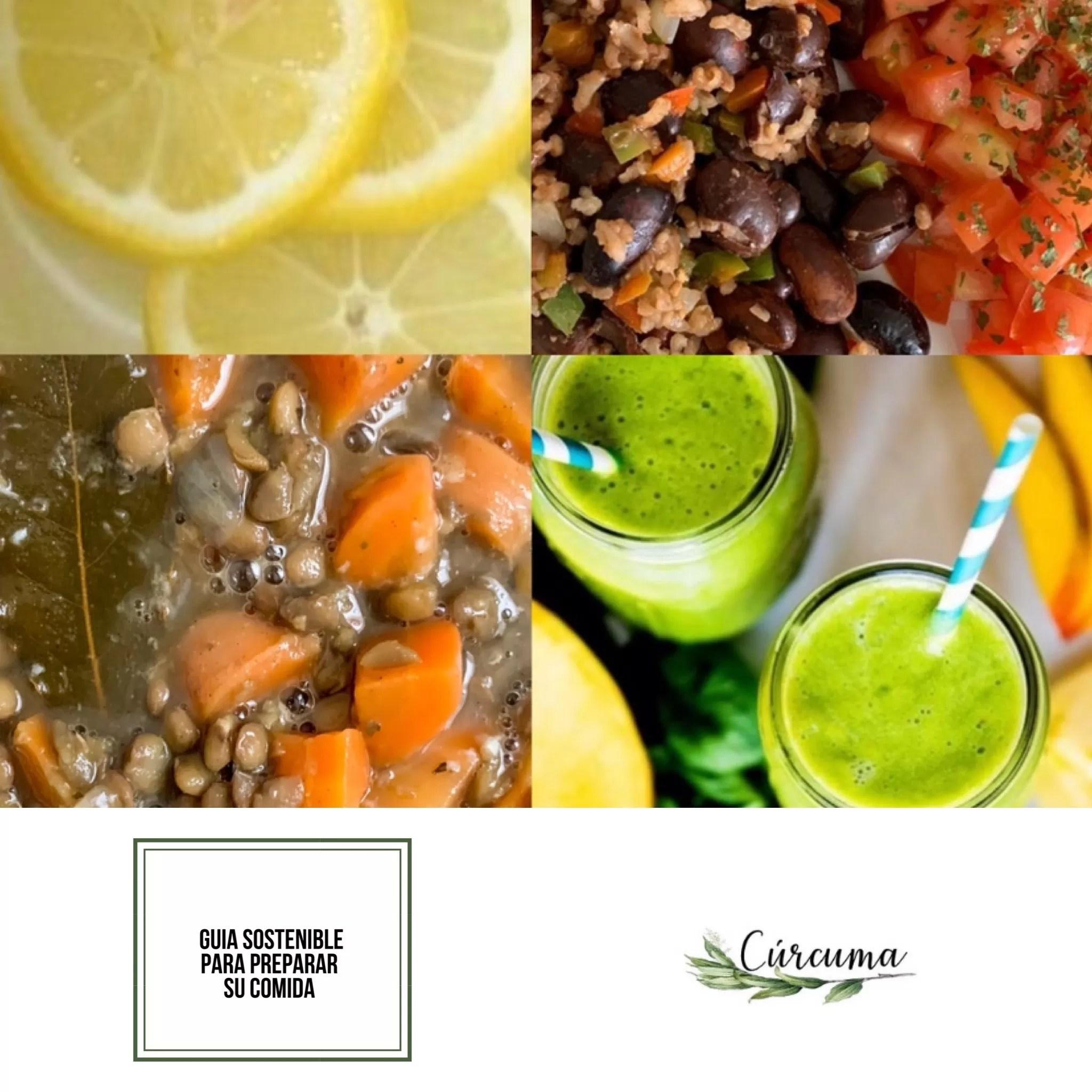 Preparación de comidas sostenibles