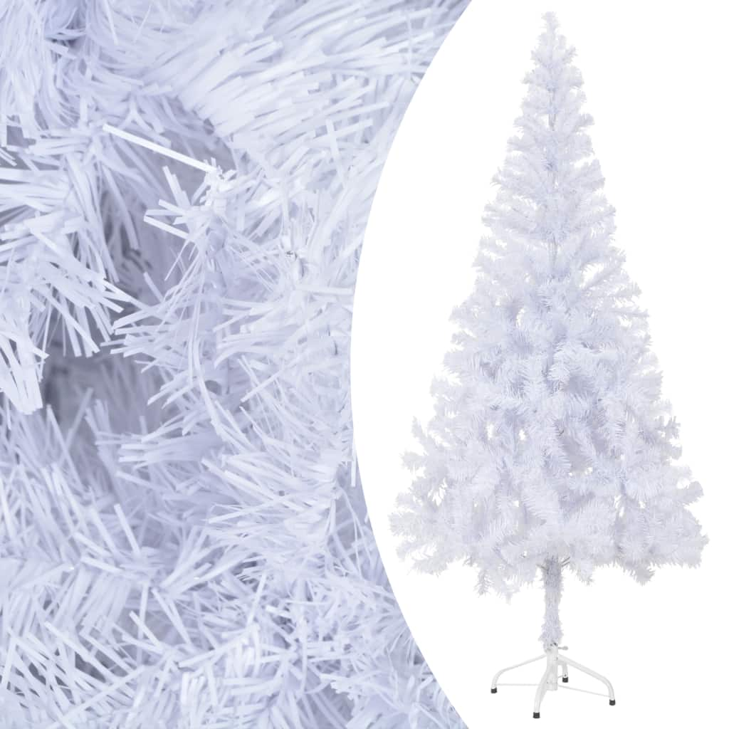 Árbol de Navidad Artificial de 180 cm con Base y 620 Ramas (Blanco)