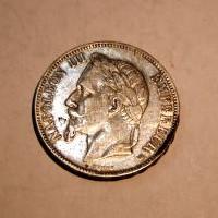 FRANCIA NAPOLEON III BONAPARTE 1868 BB M.B.C+