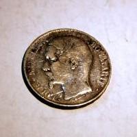 FRANCIA LUIS NAPOLEON BONAPARTE 5 FRANCOS A 1852 M.B.C+