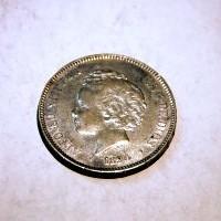 ALFONSO XIII 1894*94 P.G.V 5 PESETAS M.B.C+/ E.B.C-