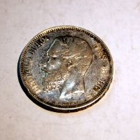 BELGICA LEOPOLDO II 5 FRANCOS 1868 M.B.C +