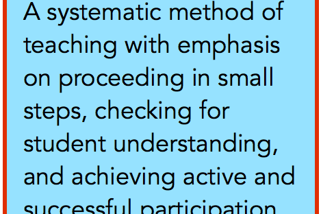 What is explicit instruction?