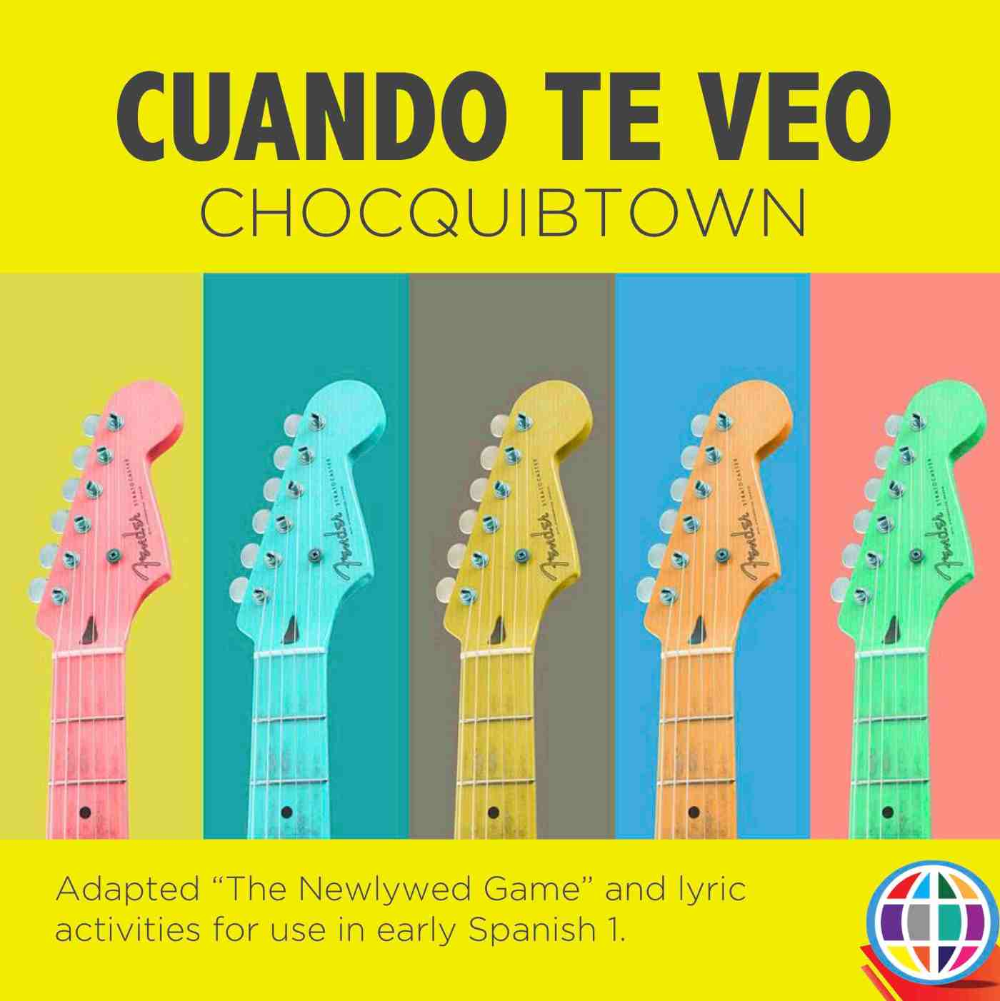 Cuando te veo by ChocQuibTown offers a unique rhythm and a simple hook that students will love