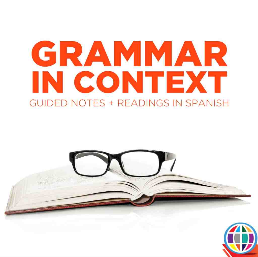 Grammar lessons don't have to overwhelm your Spanish students or undermine language acquisition. Teach grammar in context with these short guided notes and targeted readings! Grammar for Spanish Levels 1 + 2
