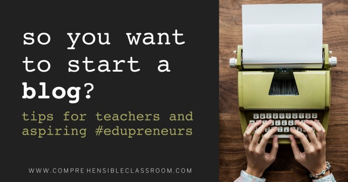 Teachers and aspiring #edupreneurs, should you start a blog? Find answers to your big questions about starting a blog in this post!