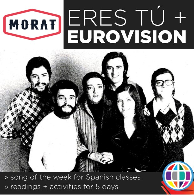 Teach your students about the Eurovision contest and then dig into both the original version of Eres tú and Morat's 2017 version of the classic Spanish love song. Perfect for Valentine's day!