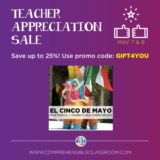 Teach Spanish language students about cinco de mayo with these input-rich lessons from The Comprehensible Classroom.