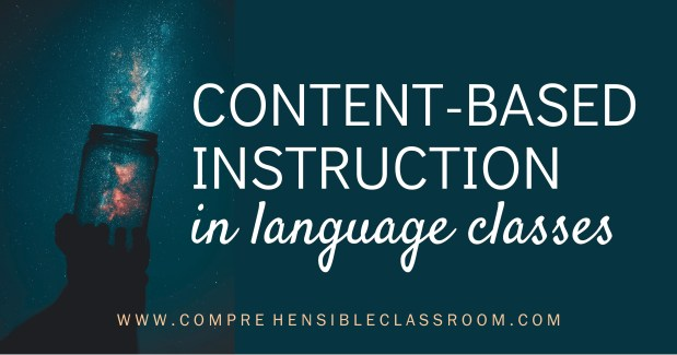 Knowing what Content Based Instruction is and how to do it effectively will help you to know what daily instruction can look like within this new mindset.