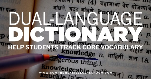 Add Core Vocabulary words from your units in language classes to a Dual-Language Picto-Dictionary to help students process the meaning and create connections to contextualized usages.