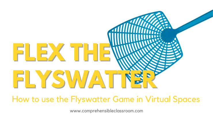 The flyswatter game can be playing online or in person.
