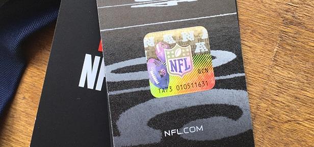 étiquette maillot NFL
