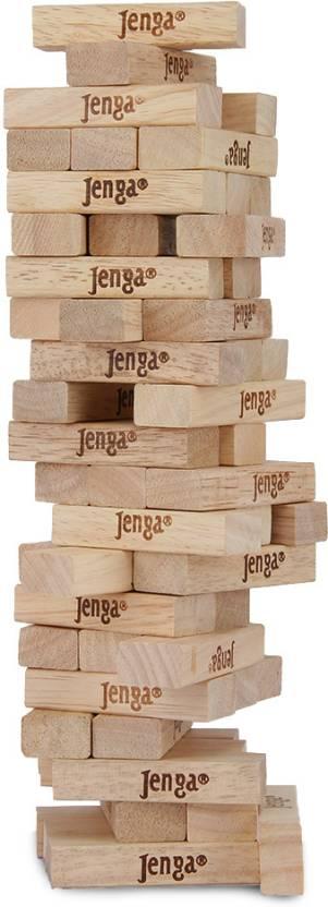 Bâtons Jenga empilés