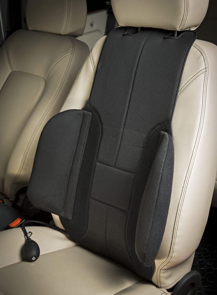Coussin lombaire Ad'Just pour le mal de dos en voiture : essai et analyse