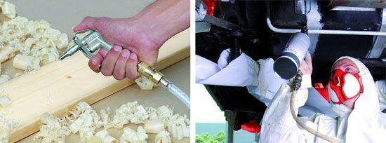 usos del compresor de aire Einhell TE-AC 230/24 - pintura limpieza