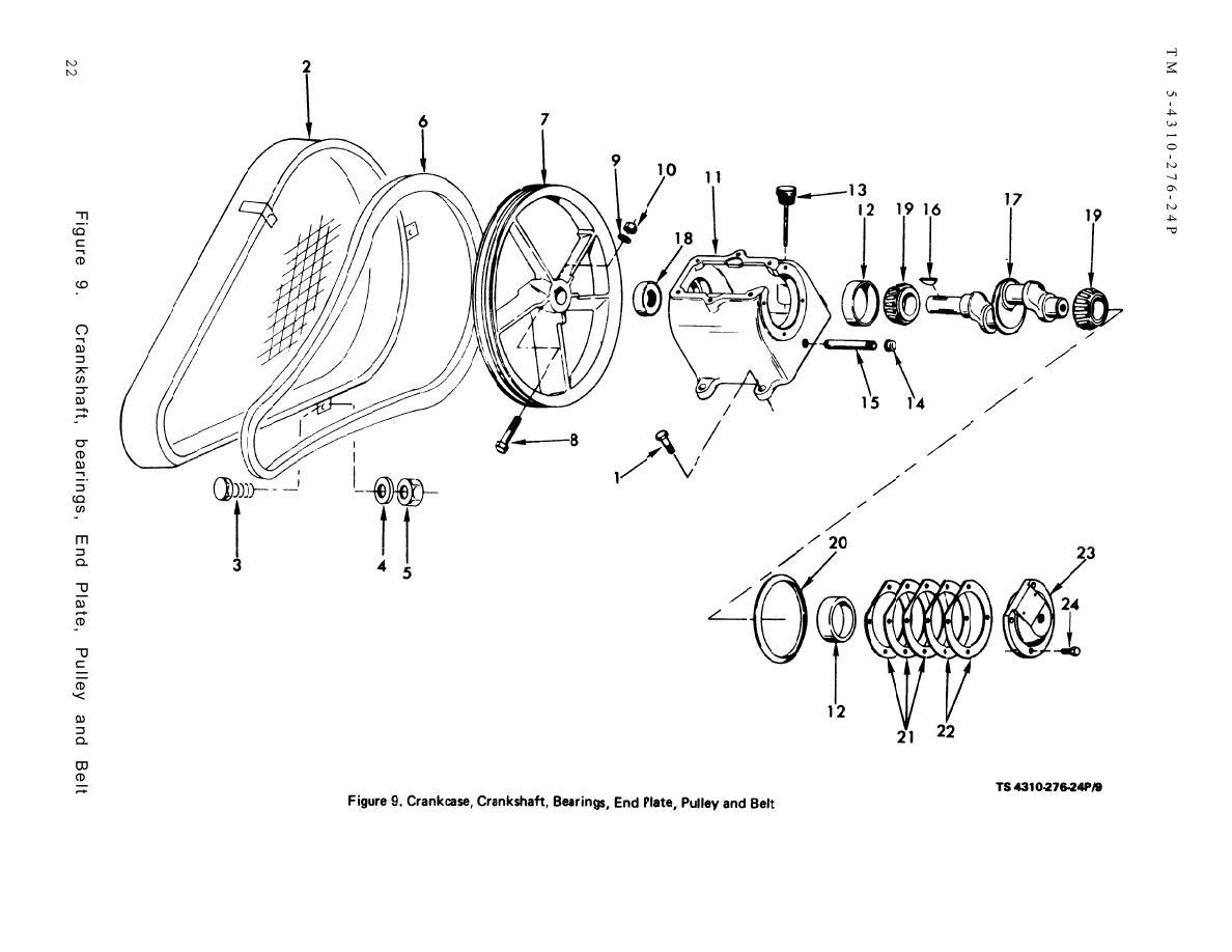 Figure 9 Crankcase Crankshaft Bearings End Plate