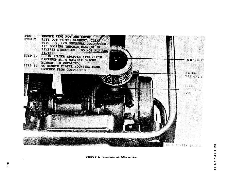 Figure 3 5 Compressor Air Filter Service
