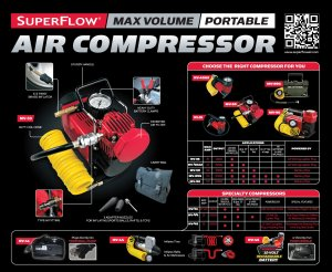 Features of MV50 SuperFlow High-Volume 12-Volt Air Compressor