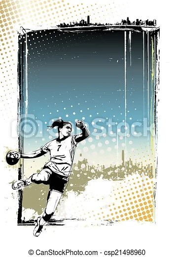 handball poster hintergrund