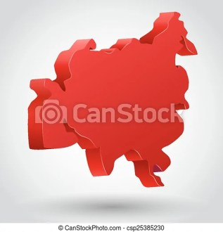 Vector illustration of asia continent  clean and bright