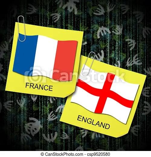 Resultado de imagem para França e Inglaterra bandeiras