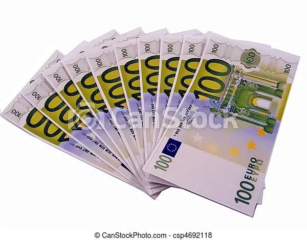 Euros In 100 Euro Money Notes 10 X 100 Euro