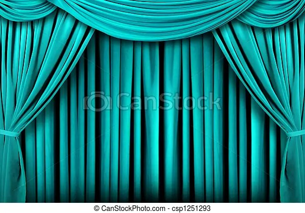 https www canstockphoto com abstract teal theatre stage drape 1251293 html