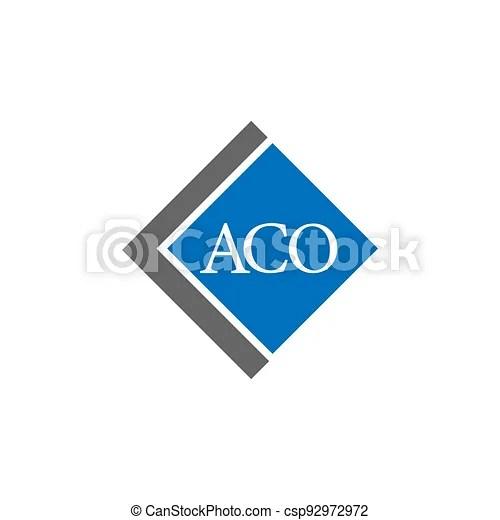 Aco Letter Logo Design On White Background Aco Creative Initials Letter Logo Concept Aco Letter Design A C O A C O Logo Canstock